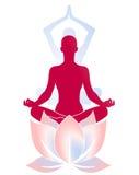 Yoga Lotus. Yoga meditation and Lotus flora Stock Photos