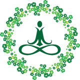 Yoga lotus logo Royalty Free Stock Images