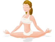 Yoga lotus. Yoga position of lotus. clipping path included Stock Photos