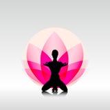 Yoga-Lotus Stockfoto