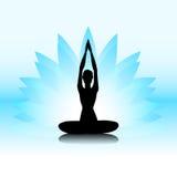 Yoga-Lotus Lizenzfreie Stockfotos