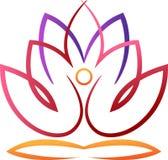 Yoga lotus. Abstract illustrated design of yoga lotus stock illustration