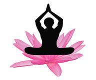 Yoga lotus flower Royalty Free Stock Photo