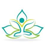 Yoga lotus flower logo. Vector design Stock Image