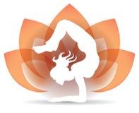 Yoga Lotus Logo Royaltyfri Bild