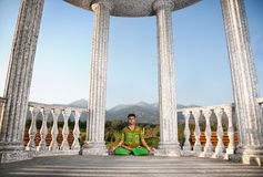 Yoga lotus pose Royalty Free Stock Photos