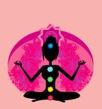 Yoga lotus pose. Royalty Free Stock Photo