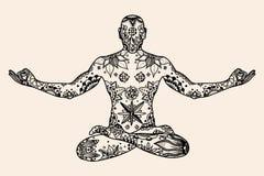 Yoga lotus pose Stock Image