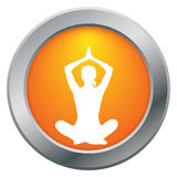 Yoga Lotus Pose Orange Icon Royalty-vrije Stock Fotografie