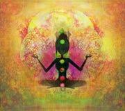 Yoga lotus pose. Royalty Free Stock Image