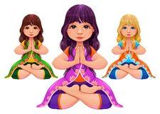 Yoga Lotus position Royalty Free Stock Photo