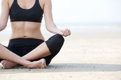 Yoga lotus position Stock Image