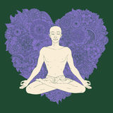 Yoga lotus position Stock Images