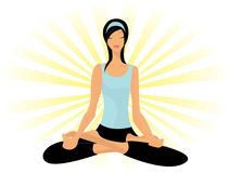 Yoga in lotus posture Stock Image