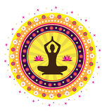 Yoga lotus posture. Illustration style Royalty Free Stock Image