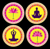 Yoga lotus posture Stock Photo