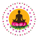 Yoga lotus posture Royalty Free Stock Photography
