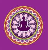 Yoga lotus posture. Illustration style Royalty Free Stock Photos