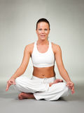 Yoga - Lotus seat Royalty Free Stock Image