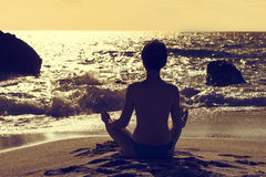 Yoga Lotus Royalty Free Stock Images