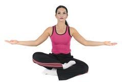 Yoga-lotusbloem positie Stock Foto