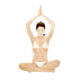 Yoga-Mädchen lizenzfreie abbildung