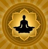 Yoga - méditation illustration de vecteur