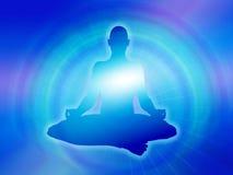 Yoga maditation Hintergrund Lizenzfreie Stockfotografie