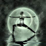 Yoga magique Images libres de droits