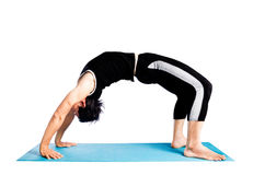 Yoga making bridge Royalty Free Stock Image