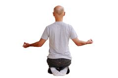 Yoga man. Man practicing yoga Royalty Free Stock Photos