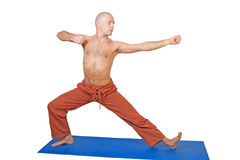Yoga. Man in archer position Stock Image
