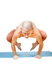 Yoga. Man in  asana Royalty Free Stock Image