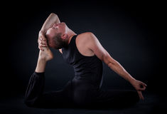 Yoga man Stock Image