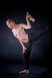Yoga man Stock Image