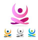 Yoga man logo set Stock Images