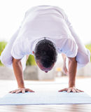 Yoga man meditating Stock Photography