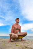 Yoga man in meditation Stock Photography