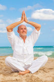 Yoga man Stock Images