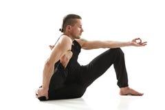 Yoga Man posing in studio Royalty Free Stock Photos