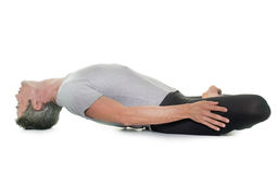 Yoga man in studio Stock Photo