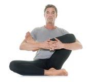 Yoga man in studio Royalty Free Stock Image