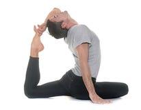 Yoga man in studio Royalty Free Stock Photography