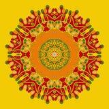 Yoga Mandala Background pour la carte de voeux Photo libre de droits
