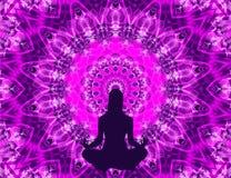 Yoga mandala Royalty Free Stock Photography