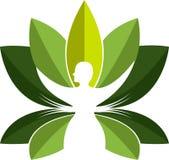 Yoga master logo Stock Image