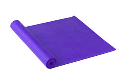 Yoga mat isolated on white  Royalty Free Stock Photography