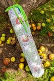 Yoga mat bag. In the garden Royalty Free Stock Photos