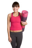 Yoga Mat Girl Royalty Free Stock Photo