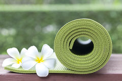 Yoga mat Royalty Free Stock Images
